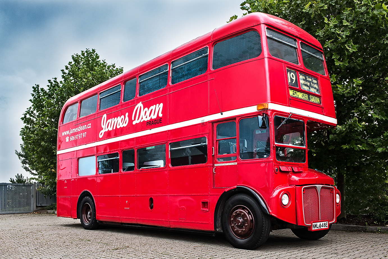 James Dean Routemaster London Doubledecker 1967 James Dean Prague